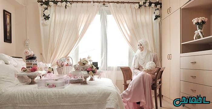انتخاب پرده اتاق خواب عروس