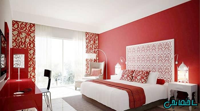 اتاق خواب قرمز