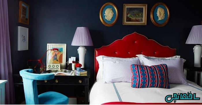 طراحی اتاق خواب قرمز