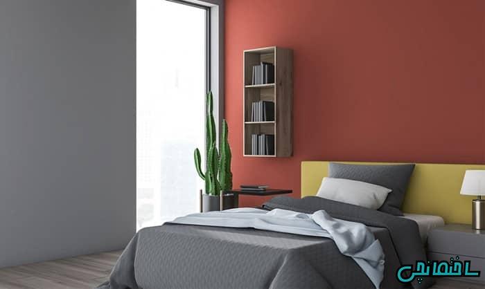 طراحی دکوراسیون اتاق خواب به رنگ قرمز