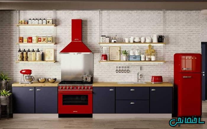 وسایل آشپزخانه قرمز