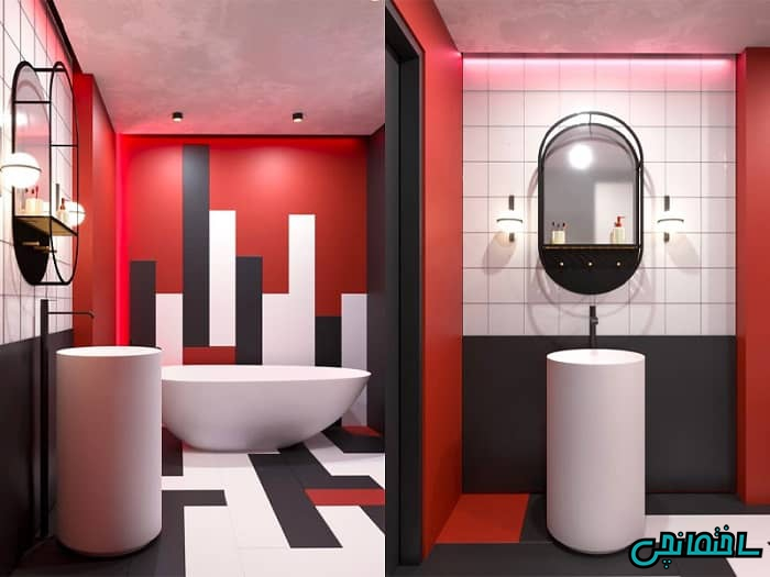 حمام قرمز