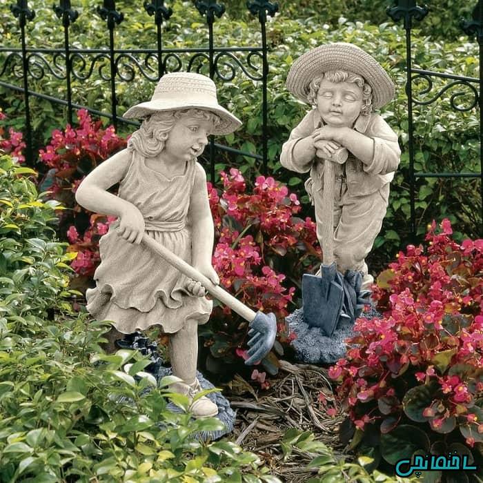 انواع مجسمه های جذا برای باغ